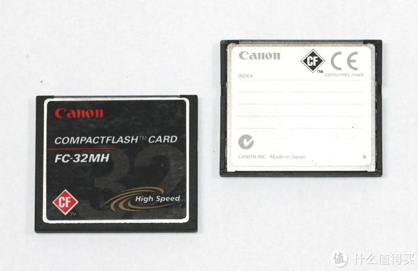 佳能相机原配的CF卡,容量为32MB
