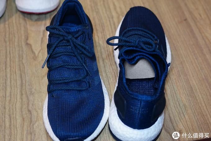 看鞋舌,其实就是鞋面折叠