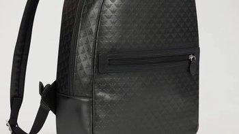 阿玛尼男士牛皮双肩背包外观展示(肩带|拉链|设计|做工)