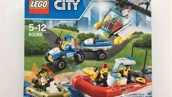 乐高 城市系列 60086 拼装玩具外观展示(橡皮艇|人仔|拖车|直升机)