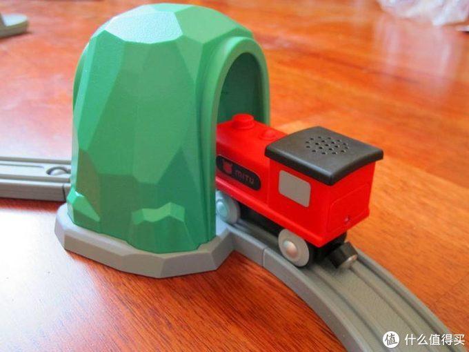 米兔积木小火车  声光感应真奇妙