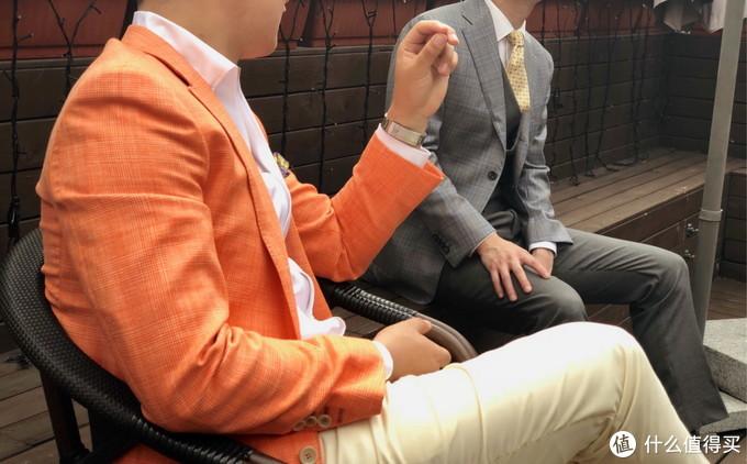 老高的ARISTON橙色西服上衣