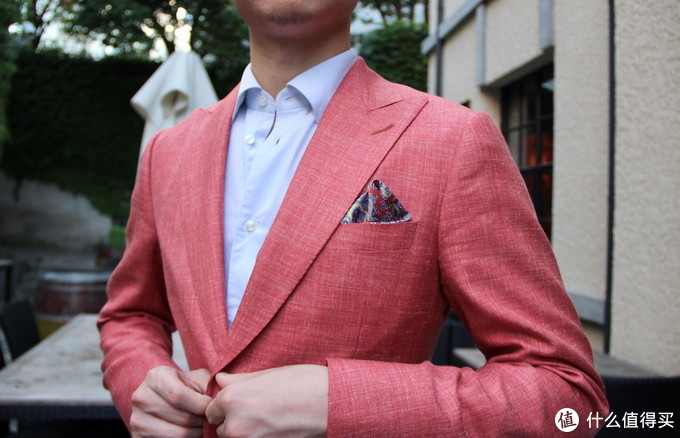 LORO PIANA 羊毛+真丝粉色西服上衣