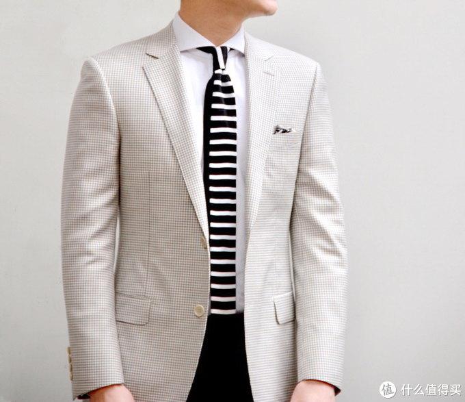 老刘的浅灰色REDA面料西服上衣