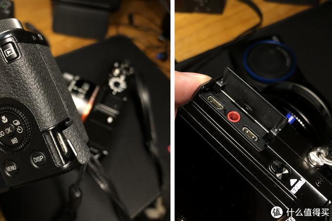 左边GR3的type-c接口,右边索尼的盖子