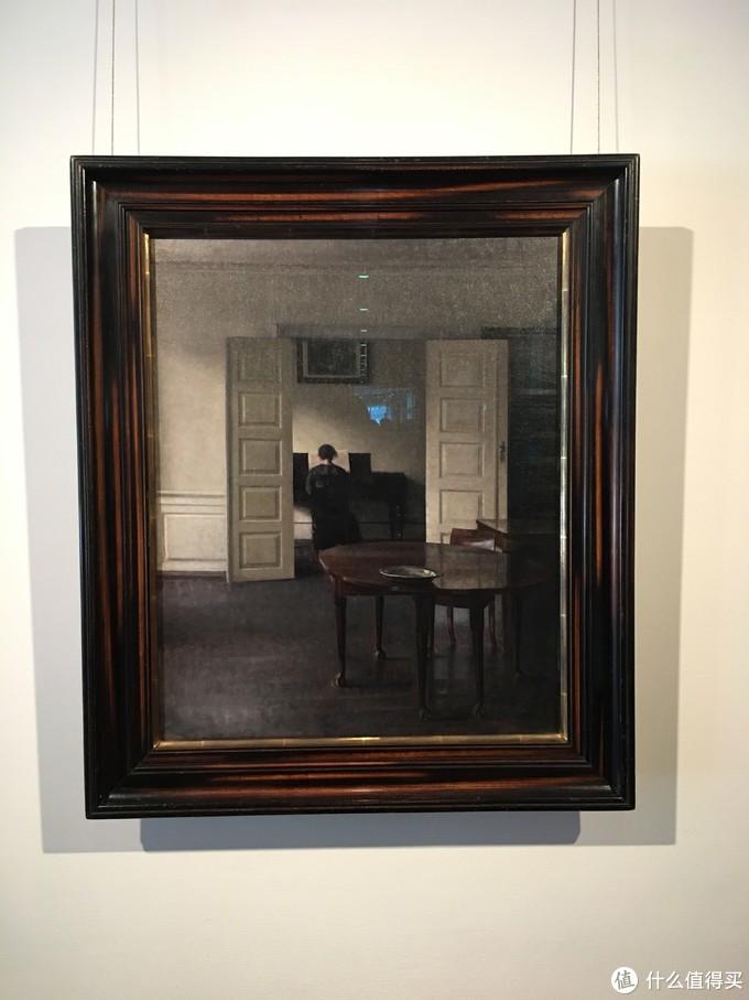 馆内藏品中最喜欢的就是这幅,威尔汉姆·哈默修依的作品《妻子依达弹琴的室内风景》。真的特别喜欢这类风格,有点Edward hopper既视感