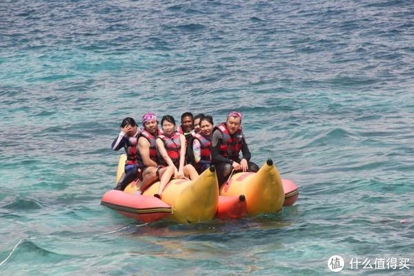 香蕉船,边上那船的人全掉海里了