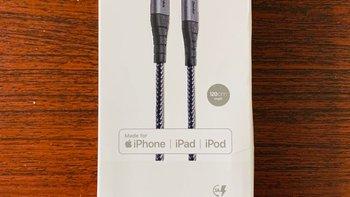 Benks 苹果MFi认证PD快充数据线开箱简评(包装|线材|长度|参数)
