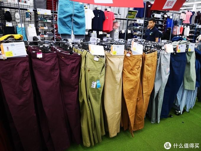 各种颜色的高尔夫休闲裤
