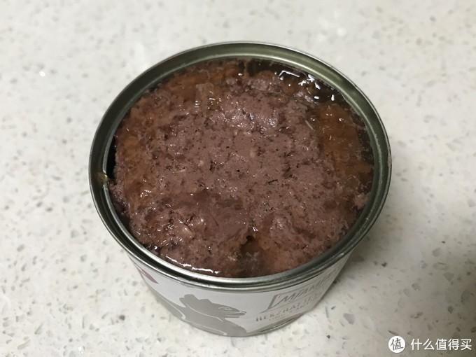 开罐可见肉质较为细腻,胶质少,有肉汤