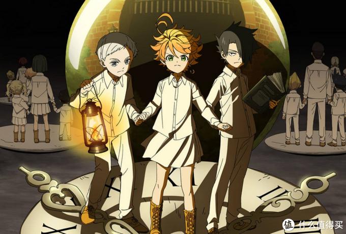 主力三人组:左边白色头发的是诺曼,具有超强的智商和分析能力,是头脑派。中间的是艾玛,有强大的运动神经,特别注重感情,自己的热情总能感染到别人。右边的是雷,发明家,唯一知道真相的人。