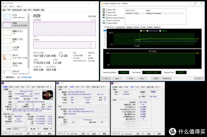👆F4-3600C18D-16GTRS@R5 2700X DDR4 3600 C18 1.35v 25分钟AIDA64内存烤机测试