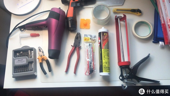 所有工具大合集,有条件的建议热风枪,吹风机真的难用。