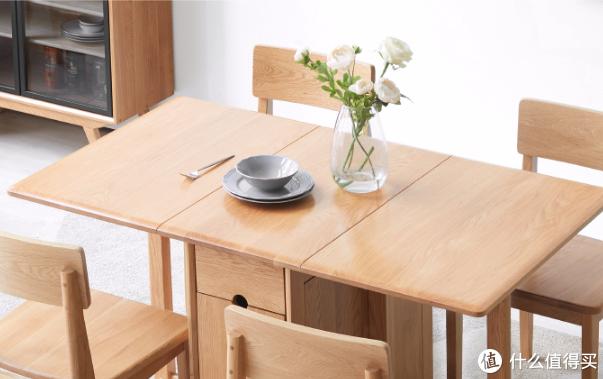 源氏木语上新一款储物折叠餐桌 为小户型浓缩空间设计