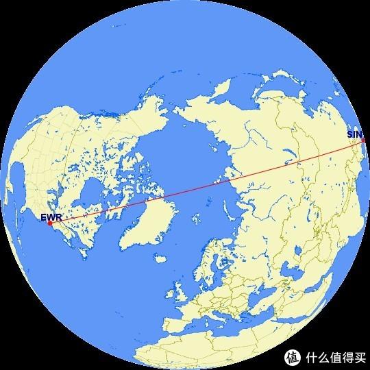 新加坡-纽约航线 全长15344 飞行时间19小时