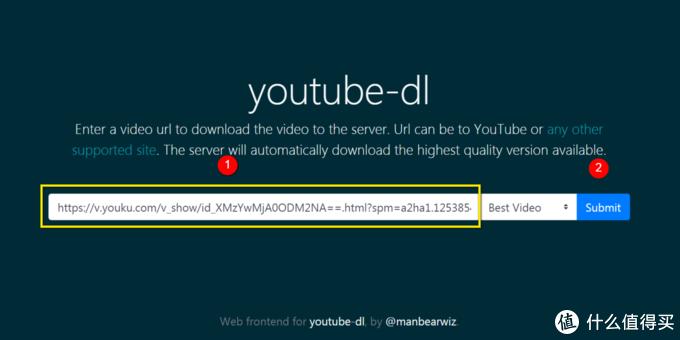在youtube-dl网页,进行添加操作