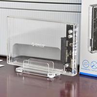 奥睿科 2.5英寸 透明移动硬盘盒开箱体验(包装 附件 底座 保修卡)