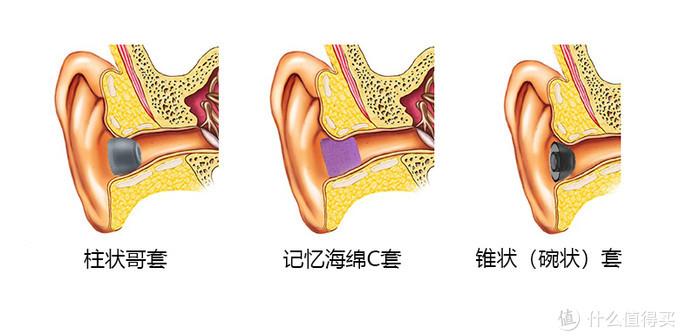 不同类型入耳套