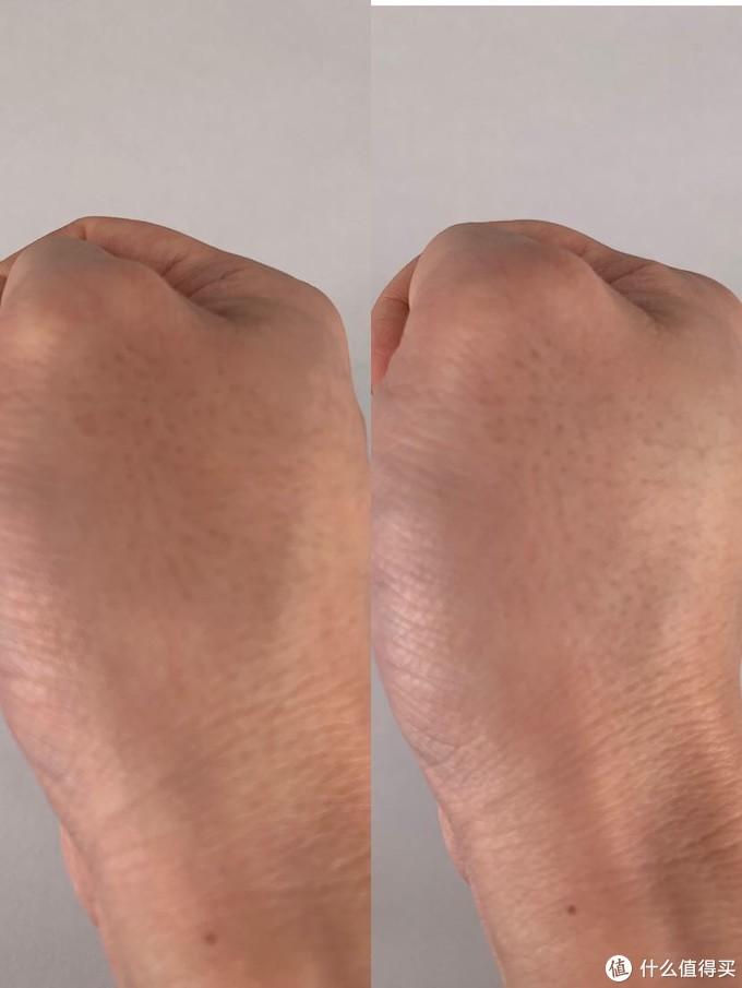 ▲左边使用前,右边使用后