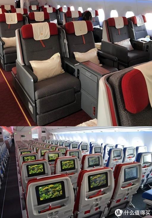 LATAM的客舱主色也是红色看起来也没有这么奇怪