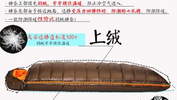 天石-8度羽绒七孔棉睡袋购买过程(耐折性|耐压性|回弹性|价格)