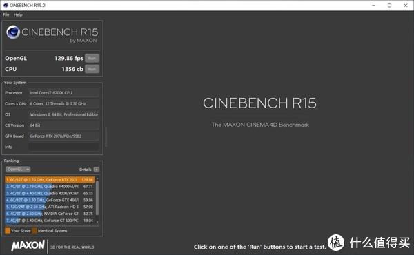i7-8700K CINEBENCH R15 CPU跑分1356cb