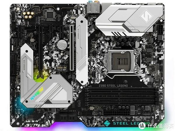 迷彩涂装、背光同步:ASRock 华擎 发布 Z390 Steel Legend 钢铁传奇 主板