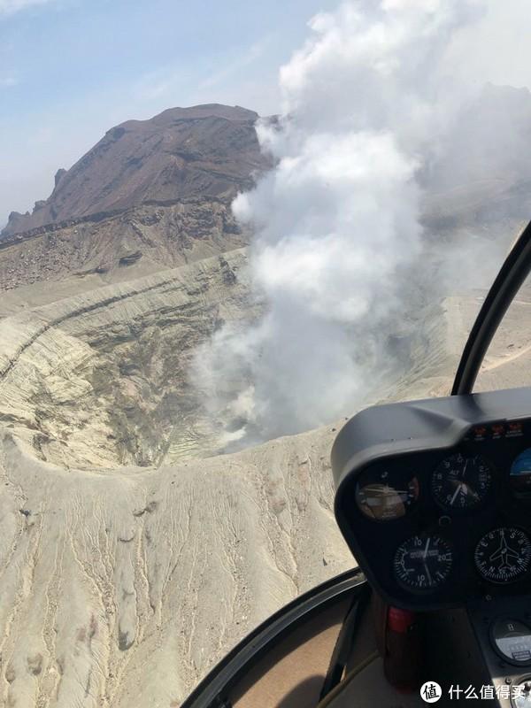 接近火山口