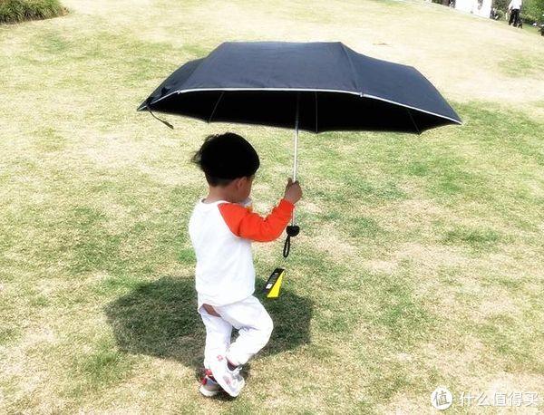 夏天必备!时尚达人专属轻盈便携阿玛姿防晒防紫外线太阳伞体验