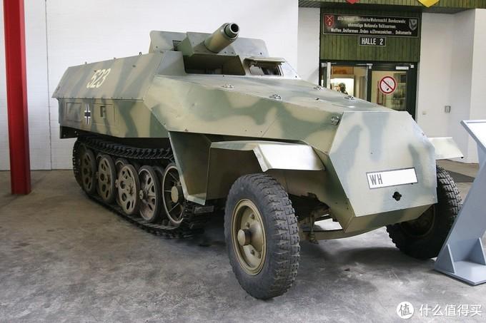 Sd.kfz. 251/9型半履带突击炮车, 藏于德国明斯特坦克博物馆