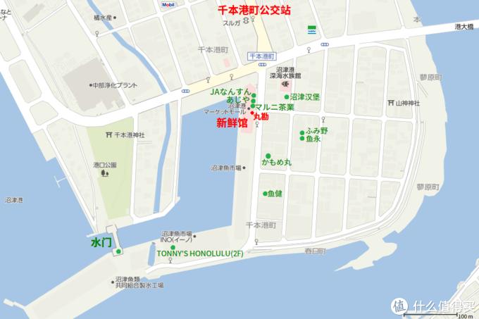 沼津港及周边地区的google地图