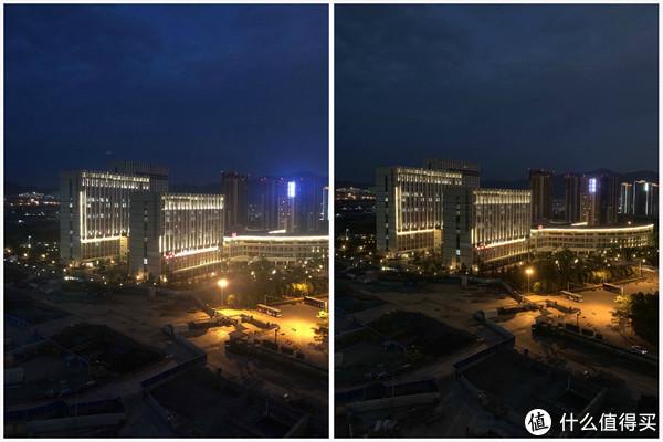夜晚样张对比(1X,左iPhone X 右iPhone XS Max)