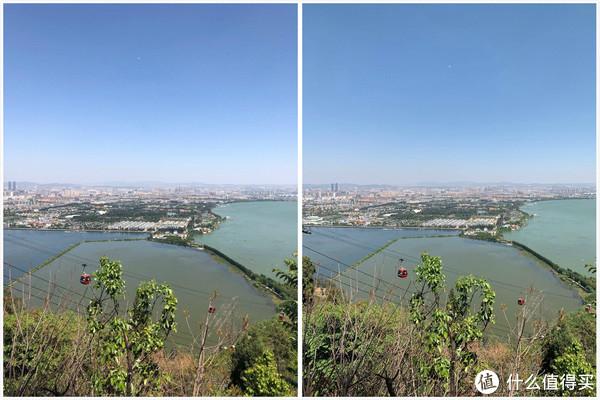 白天远景对比(1X,左iPhone X 右iPhone XS Max)