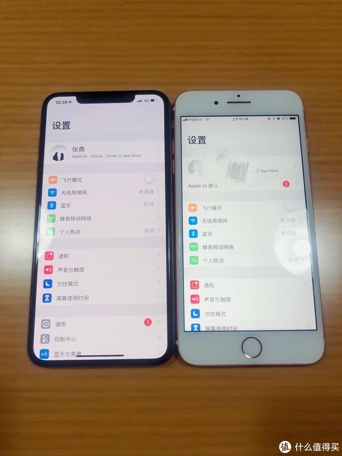机身和iPhone 7 Plus对比