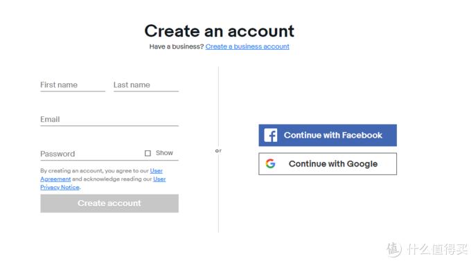 ebay注册页面
