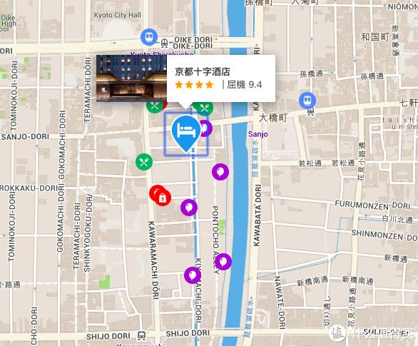 本次入住的是京都十字酒店,在三条和四条附近,地段非常好,而且酒店是新开的各种设施都非常完善,而且价格也实惠我定的时候一晚上才452人民币含税。