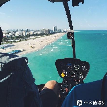 在迈阿密你有另外一种方式去游玩,乘坐直升机空中俯瞰迈阿密