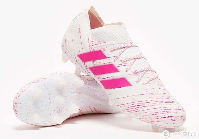 草莓圣代:adidas 阿迪达斯 推出 全新配色版 Nemeziz 18+ 足球鞋