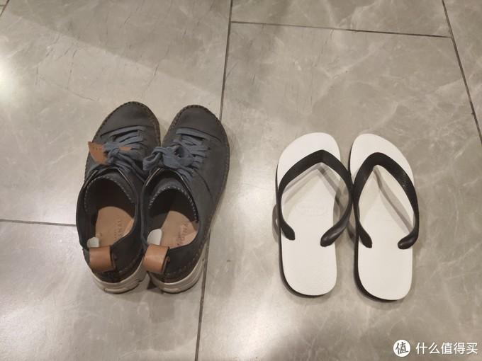 clarks三瓣鞋+人字拖