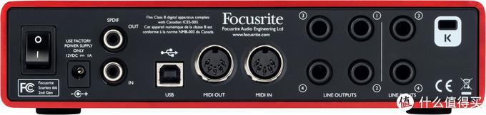 Focusrite 6i6 背面板