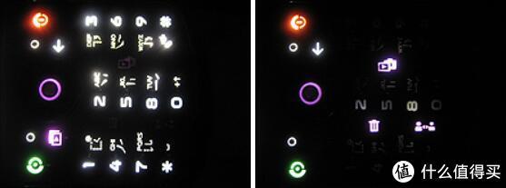 拍照时隐藏的几个按键会被点亮,十分好用