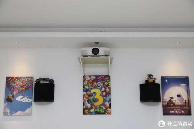 安装位置比起之前天花板上固定的方式看起来和谐多了