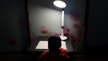 孩视宝 VL225A LED护眼台灯开箱展示(包装|灯头|底座|支架)