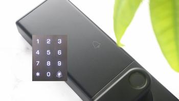 小益 E205 指纹锁外观展示(面板|材质|锁孔|指纹|屏幕)