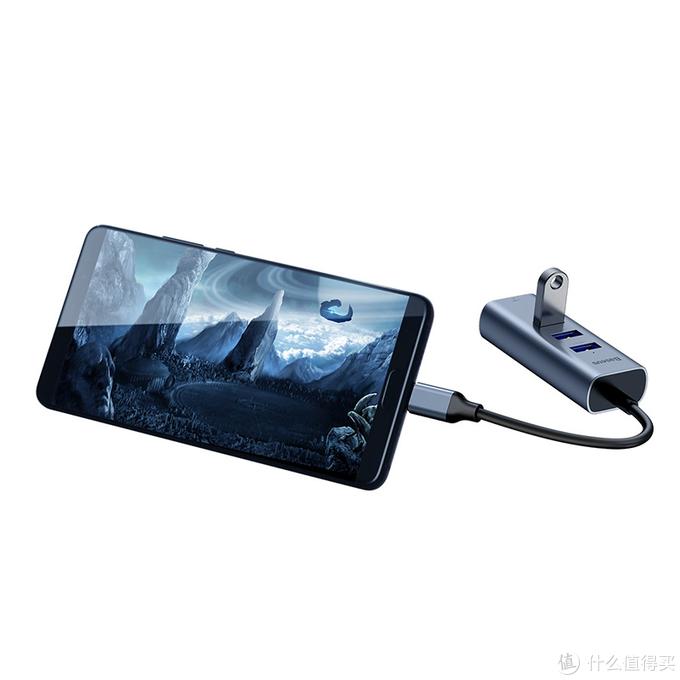倍思畅享系列Type-C转USB3.0 RJ45网口HUB转换器 极简设计非凡功能