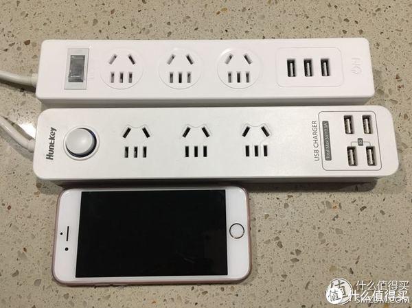 和航嘉的插座做个对比正面(手机是6s)
