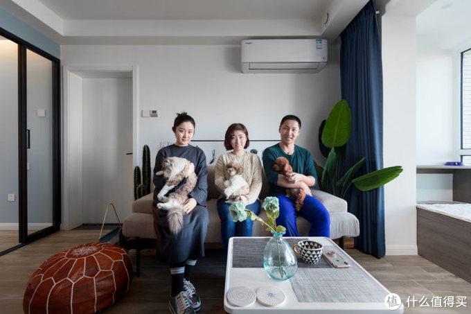 68㎡一居室改两居室,俩娃仨宠的有爱之家!