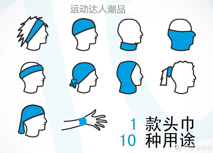 魔术头巾的十种用途