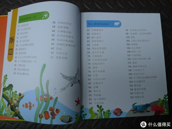 目录上可以看出,有很多动物的名录。