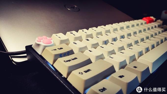 """一种""""萌萌""""的码字感受的键帽-ZOMO 白粉硅胶金属猫爪键帽"""